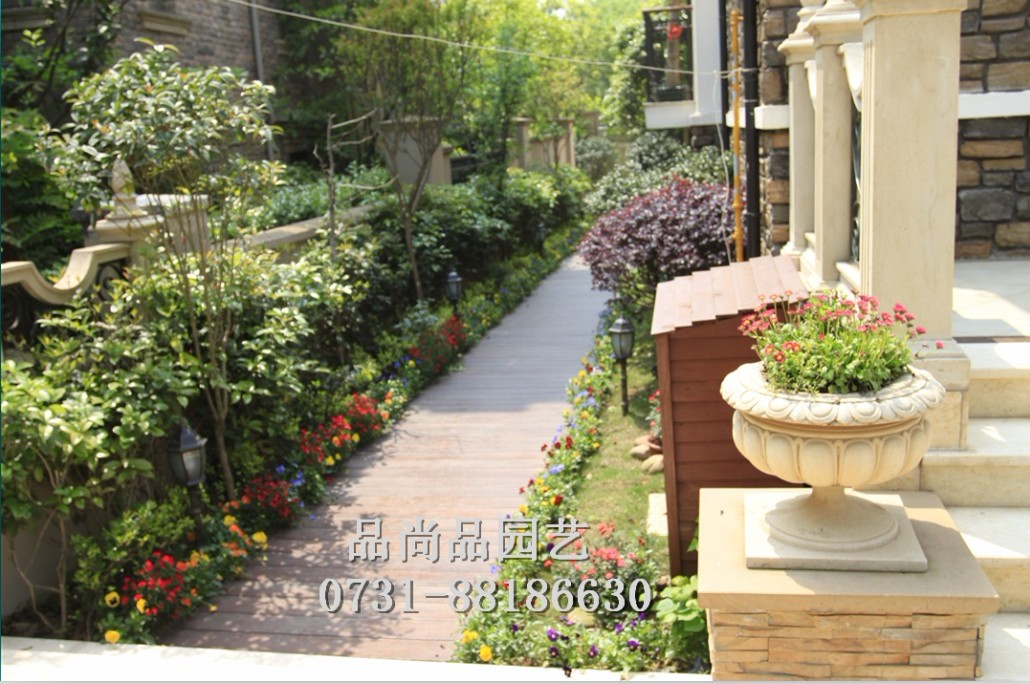 欧式别墅园林 别墅花园景观